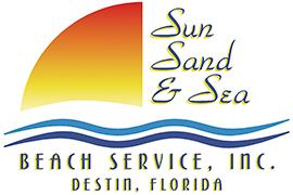 Sun, Sand & Sea Beach Service Logo